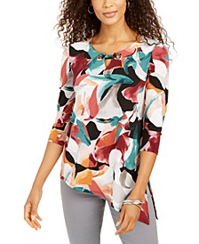 Asymmetrical Keyhole Top, Created for Macy's