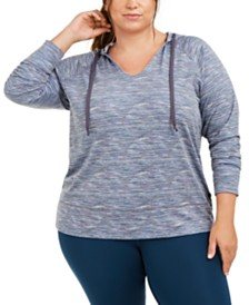 Ideology Plus Size Printed Hoodie, Created for Macy's