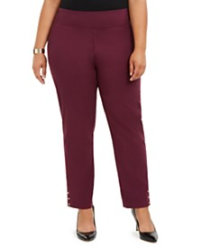 NY Collection Plus Size Pull-On Pants