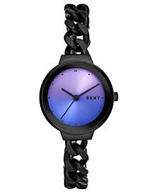 Women's Astoria Black Stainless Steel Chain Bracelet Watch 32mm