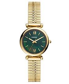 Women's Mini Carlie Gold-Tone Stainless Steel Mesh Bracelet Watch 28mm