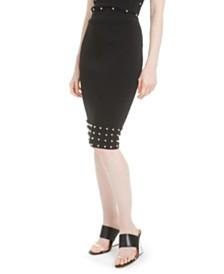 Bar III Studded Pencil Skirt, Created For Macy's