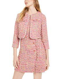 Betsey Johnson Tweed Coverup Jacket and Dress