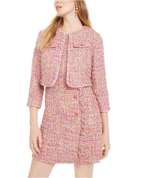 Betsey Johnson Tweed Coverup Jacket