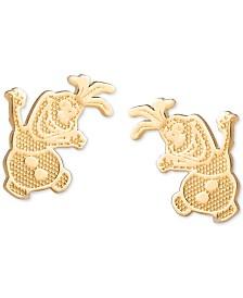 Disney© Children's Frozen Olaf Stud Earrings in 14k Gold