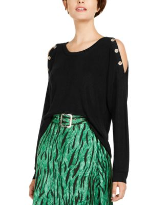 INC Grommet Cold-Shoulder Sweater, Created for Macy's