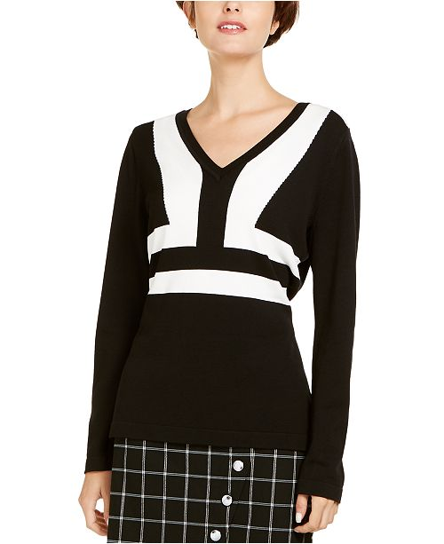 INC International Concepts I.N.C. Colorblocked Sweater, Created for Macy's