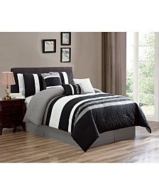 Luxlen Seelye 7 Piece Comforter Set, Queen