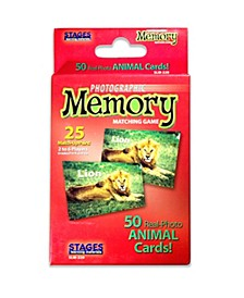 Picture Memory Card Game, Animals