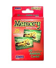 Stages Learning Materials Picture Memory Card Game, Animals