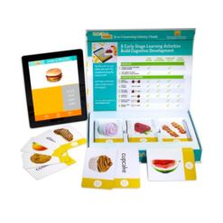 Stages Learning Materials Link4fun Foods Master Pack of 3 Interactive Flashcard Sets with free iPad App