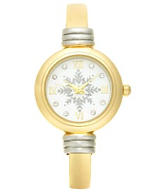 Holiday Lane Women's Two-Tone Bangle Bracelet Watch 28mm, Created For Macy's