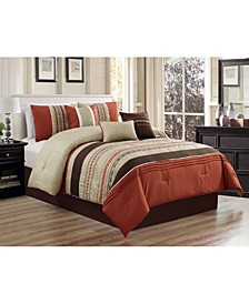 Nilsen 7 Piece Comforter Set, Cal King
