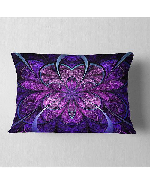 Design Art Designart Blue And Purple Large Fractal Flower Floral Throw Pillow 12 X 20 Reviews Decorative Throw Pillows Bed Bath Macy S