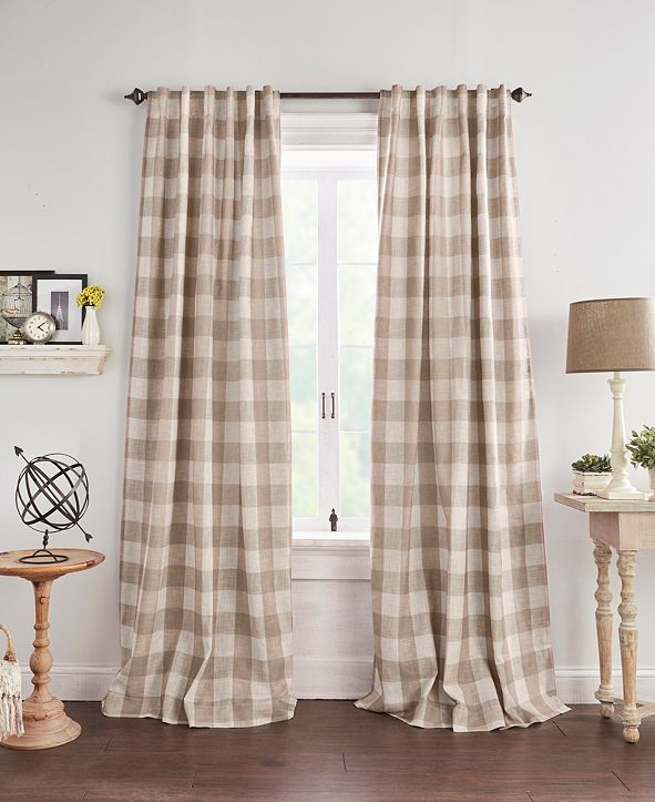 "Elrene Grainger Buffalo Check 52"" x 84"" Blackout Curtain Panel"