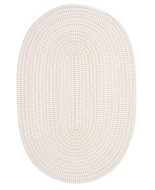 Ticking Stripe Oval Canvas 2' x 3' Accent Rug