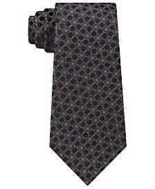 Calvin Klein Men's Classic Medallion Silk Tie