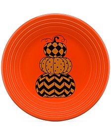 "Geo Pumpkin 9"" Lunch Plate"