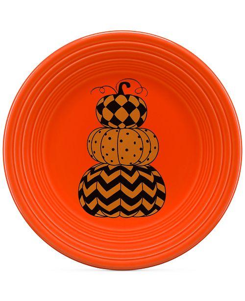 "Fiesta CLOSEOUT! Geo Pumpkin 9"" Lunch Plate"