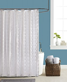 """Butterfly Home Fashions Peacock 70"""" x 72"""" Shower Curtain"""