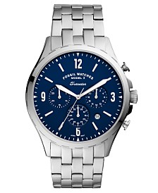 Fossil Men's Chronograph Forrester Stainless Steel Bracelet Watch 46mm