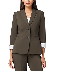 Tahari ASL Two-Button Roll-Cuff Jacket