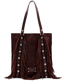 Burnished Leather Suede Vincenza Tote