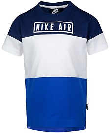 Nike Toddler Boys Air-Print Colorblocked Cotton T-Shirt