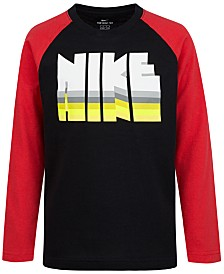 Nike Little Boys Logo-Print Cotton T-Shirt