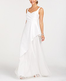 Asymmetrical Pleated Gown