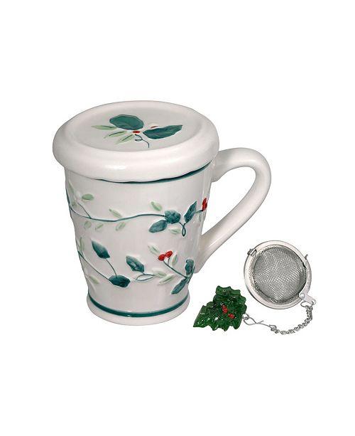 Pfaltzgraff Winterberry Covered Mug with Tea Infuser