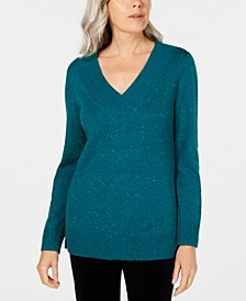 V-Neck Long-Sleeve Sweater, Created for Macy's