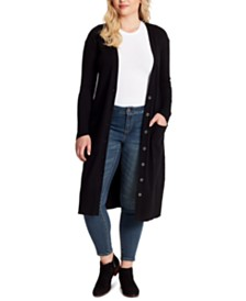 Jessica Simpson Trendy Plus Size Laela Duster Cardigan