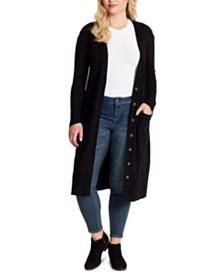 Jessica Simpson Trendy Plus Size Laela Duster Cardigan