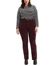 Plus Size Straight-Leg Corduroy Pants