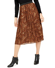 Animal-Print Pleated Skirt, Created for Macy's