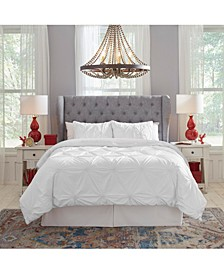 Knotted Pintuck Duvet Set Full/Queen