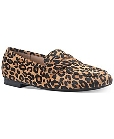 Women's Cammie Calf Hair Penny Loafers, Created For Macy's