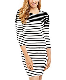 Maternity Ruched Nursing Dress