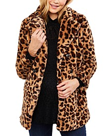 Maternity Faux-Fur Coat