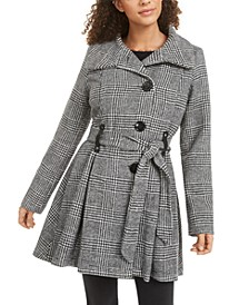 Juniors' Drama Skirted Coat