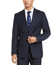 Men's X-Fit Slim-Fit Stripe Flannel Suit Jacket