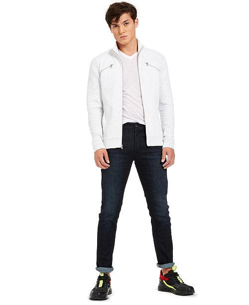 INC International Concepts INC Men's Quilted Track Jacket and Skinny Jeans