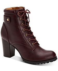 Cassyn Lace-Up Lug Sole Booties, Created for Macy's
