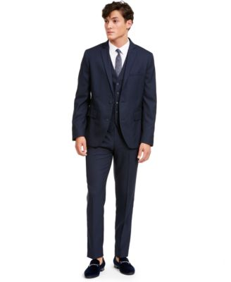 INC Men's Slim-Fit Micro Check Suit Jacket, Created for Macy's