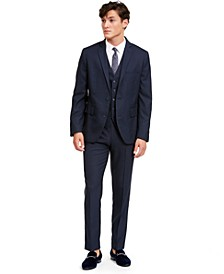 I.N.C. Men's Slim-Fit Micro Check Suit Separates, Created for Macy's