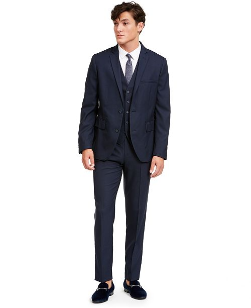 INC International Concepts I.N.C. Men's Slim-Fit Micro Check Suit Separates, Created for Macy's