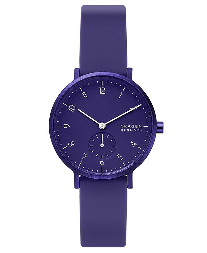 Skagen - Unisex Aaren Aluminum White Silicone Strap Watch 36mm