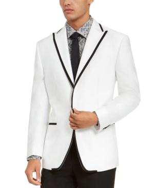 Sean John Men's Classic-fit Tuxedo Suit Separate Jackets In White