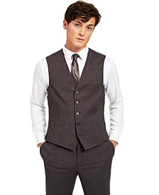 INC Men's Slim-Fit Crosshatch Suit Vest, Created for Macy's